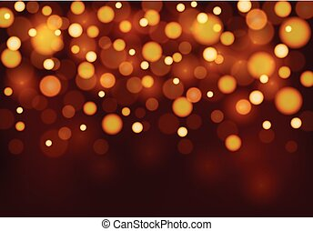 Background template with orange light