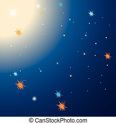 Background template with stars at night