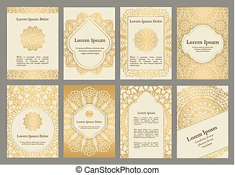 Background templates with crochet lace