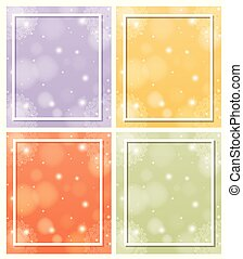 Background templates with mandala patterns