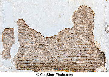 background texture from old broken brick wall