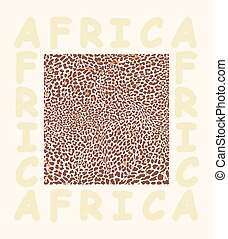 Background texture leopard