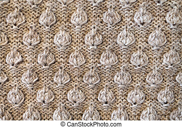 knitted fabric with a raised pattern