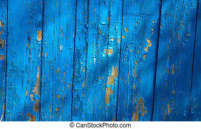 background texture of blue wood planks