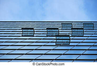 Background texture of business building over sky