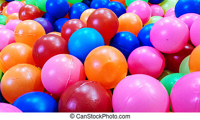 Background texture of multi-colored plastic balls