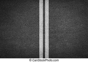 background texture of rough asphalt white line