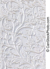 background texture with floral design - stone background...