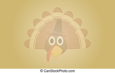 Background Thanksgiving with turkey collection vector...