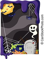 Background theme with halloween night