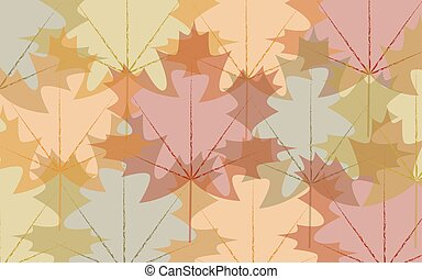 Background transparent autumn leaves