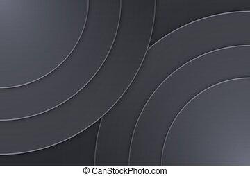 Background Unusual modern material design. Dark circle...