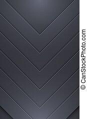 Background Unusual modern material design. Dark style....
