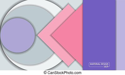 Background Unusual modern material design. Format 16:9