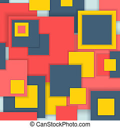 Background Unusual modern material square design. Abstract ...