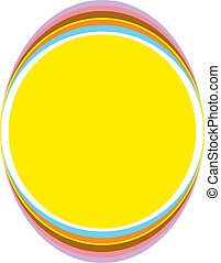 Background of an urban style oval.