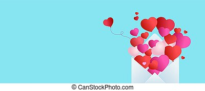Background Valentines day or birthday card. Balloons in form of heart fly