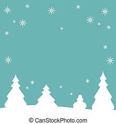 background-vector, elvont, tél, ábra, karácsony