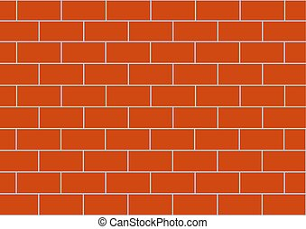 Background vector image of a brown brick wall.