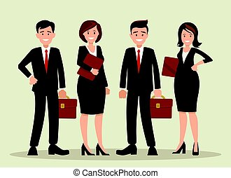 Background vector of a business team