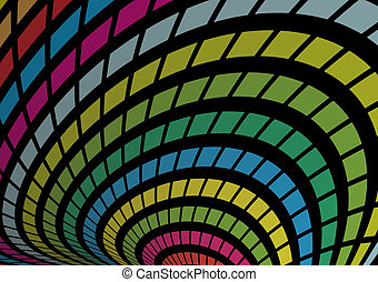 Background vector rainbow arc