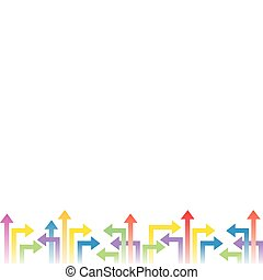 Background vector with arrows