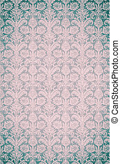 background vintage pattern in blue