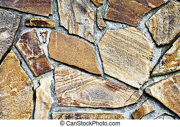 background wall of large stones of irregular form