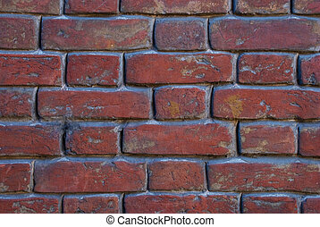 background wall of red brick