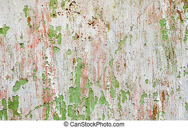Background - wall with damaged paint