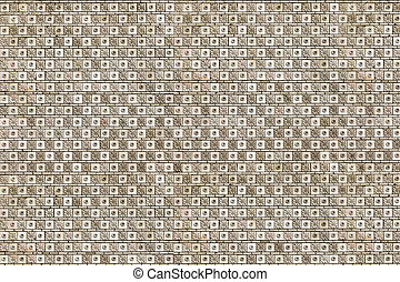 patterned cladding tiles