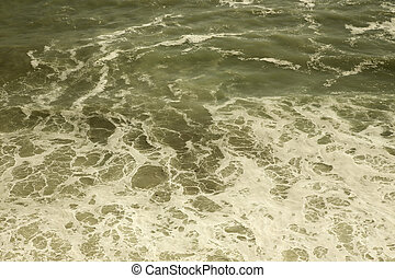 background waves in the sea