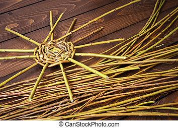 we produce a wicker basket