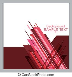 background website red set of vector abstract banners on white