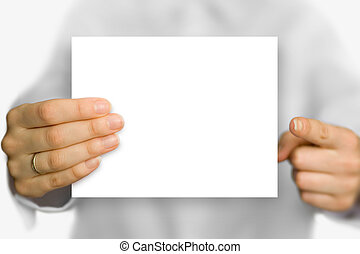 background - white business card