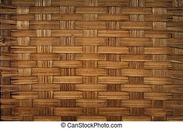 wicker wood surface