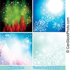 Background winter collection