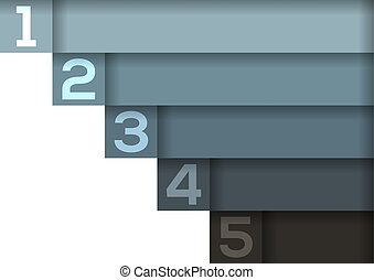 Background with 5 light to dark blue-grey horizontal stripes