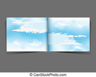 background with a blue sky