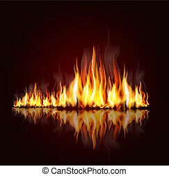 background with a burning flame - background with a burning...