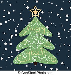 background with a Christmas tree