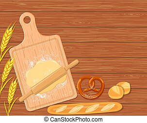 background with a cutting board,