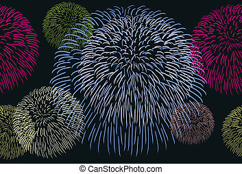 Background with a fireworks - Abstract seamless background...