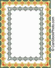 frame in the form of celti