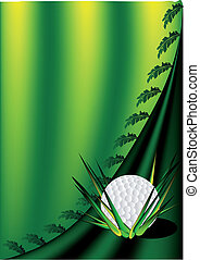 background with a golf ball