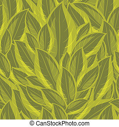 Background with a green leaves