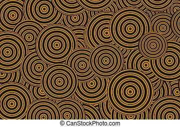 yellow-black circles