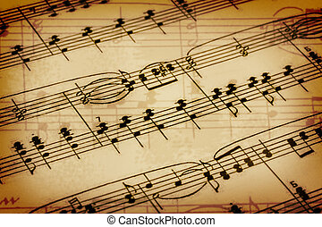 Background with a music notes