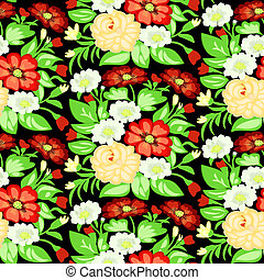 background with a pattern of flowers