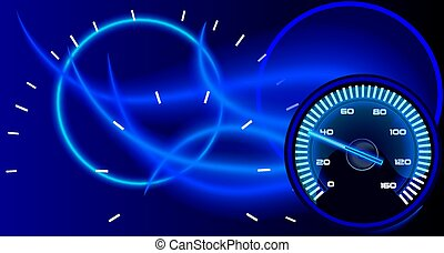 Background with a picture of the speedo in neon fire. - ...